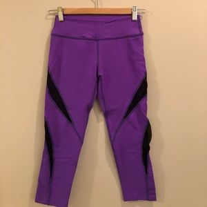 Beyond yoga capris with cute cutouts
